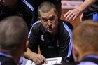 Breakers coach Andre Lemanis gives instructions during this midweek win over the Crocs. Photo / Getty Images