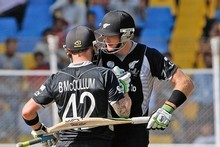 Brendon McCullum and Martin Guptill enjoyed some time in the middle against Zimbabwe. Photo / Getty Images