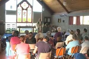 The service at the Union Parish Chapel.