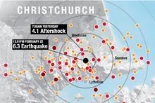 The aftershocks. Graphic / NZ Herald
