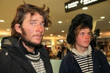 Jarle Andhoy (left) and Samuel Massie say they are being realistic about their crewmates' chances of survival. Photo / NZPA