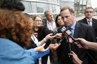 John Key speaks to the media. Photo / Getty Images