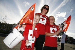 Unlike big banks, volunteers demand no glory for their contributions to the quake-relief effort. Photo / Getty Images
