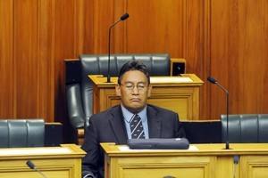 Hone Harawira, returns to the debating chamber as an independent today. Photo / NZPA
