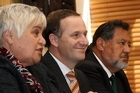 Tariana Turia, John Key and Dr Pita Sharples. Photo / Getty Images