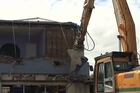 Raw video of the demolition of buildings in the Christchurch red zone following the earthquake.