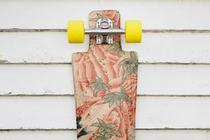 You be can be as creative as you wish when it comes to decorating the bottom of your skateboard. Photo / Steven McNicholl