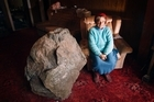Betty McGrail wants to get rid of this boulder. Photo / Sarah Ivey