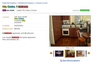 A listing for a non-existent flat that Trade Me says was a scam. Photo / Supplied