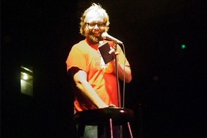 Daniel Kitson shows the perils of judging a book by its cover. Photo / Supplied