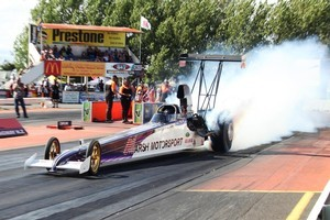 Anthony Marsh in a spitzer dragster. Photo / Supplied