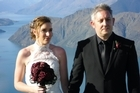 The Wigzells' marriage at Wanaka, snapped by Danielle's father Tony Ford. Photo / Supplied