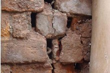 Crumbling brickwork prompted council action. Photo / Supplied