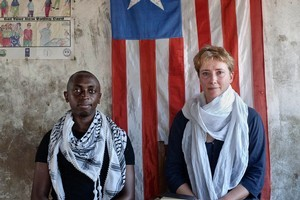 Tindy Agaba and Emma Thompson went to the country of Agaba's birth with a charity trying to help Liberia's abused women.  Photo / ActionAid
