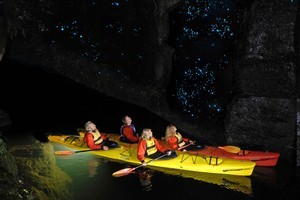 The night glow worm expedition run by Waimarino Kayak Tours. Photo / Supplied