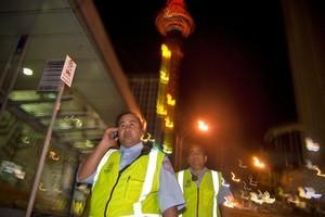 The City Watch team patrol the CBD. Photo / Michael Craig