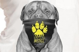 Huffer's dog Boss singlet for Paw Justice. Photo / Supplied