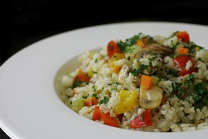 Brown rice salad. Photo / The Aucklander