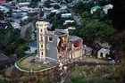 Lyttelton's Timeball Station was wrecked in February 22's earthquake. Photo / Sarah Ivey