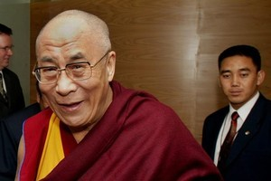 The Dalai Lama says his retirement does not mean he has lost heart. Photo / Mark Mitchell