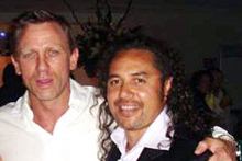 Kiwi stuntman Conway Wickliffe with 007 actor Daniel Craig. Photo / Supplied