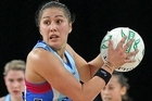 Liana Leota of the Steel looks to pass the ball into the circle. Photo / Getty Images