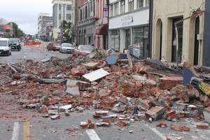 Damage from the Christchurch earthquake. Photo / Geoff Sloan