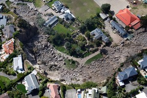 Abandoned homes in the Christchurch suburb of Redcliffs. Photo / Brett Phibbs