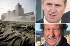 AMI Stadium, left, John Key, top right, Peter Bills, bottom right. Photos / Dean Purcell, Paul Estcourt and Marty Mellvile
