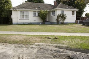 The state house in Christchurch where John Key once lived escaped damage in the earthquake. Photo / Mark Mitchell
