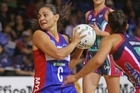 Temepara George of the Mystics looks for support against the Melbourne Vixens. Photo / Getty Images