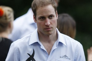 HRH Prince William on his visit to New Zealand last year. Photo / Mark Mitchell