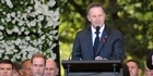 Watch: PM John Key's speech to mourners