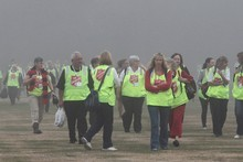 Salvation Army volunteers arriving to help at the Memorial Service. Photo / NZPA