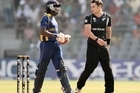 Mahela Jayawardene and Nathan McCullum. Photo / Getty Images
