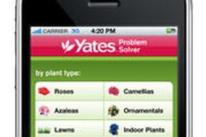 The Yates Problem Solver iPhone app can now be a handy tool for keen gardeners. Photo / Supplied