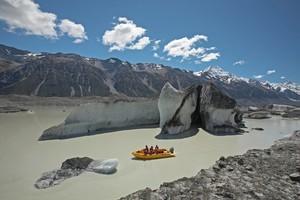 Admire the icebergs on Tasman Glacier lake. Photo / Supplied