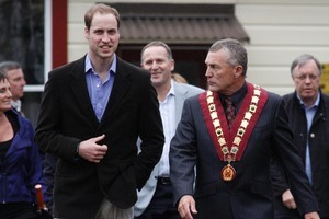 Prince William, pictured with Tony Kookshorn, spoke to every family member. Photo / Mark Mitchell