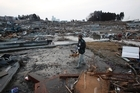 Rikuzentakada, Iwate Prefecture, northern Japan, after the tsunami. Photo/AP