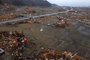 The leveled city of Minamisanriku. Photo / AP