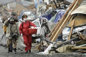 Survivors of Friday's earthquake and tsunami now have to deal with the threat of radiation. Photo / AP