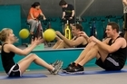 Matching strengths at a fitness dating session. Photo / Supplied
