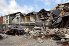 Manchester Street in Christchurch after the February 22 earthquake. Photo / Simon Baker