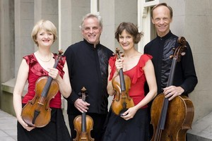 The quartet: Gillian Ansell, Douglas Beilman, Helen Pohl and Rolf Gjelsten. Photo / Supplied
