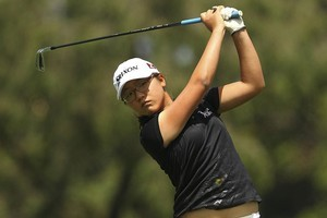 Lydia Ko of New Zealand plays a shot. Photo / Getty Images