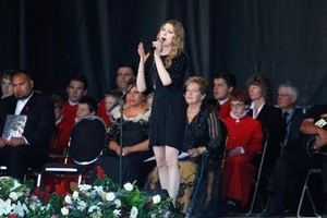 Hayley Westenra performed during the memorial service. Photo / Getty Images
