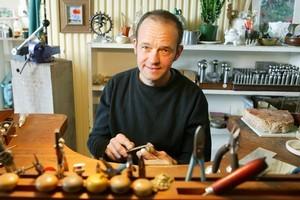 Jeweller John Robinson has work at Temple Gallery. Photo / Tourism Dunedin