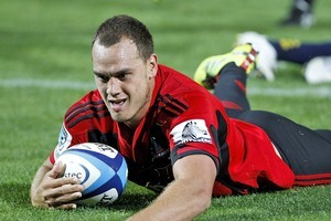 The Crusaders could play a home game at Westpac Stadium this season. Photo / Getty Images