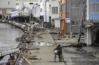 The aftermath in Ishonomaki, Miyagi prefecture. Photo / AFP