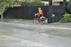 This footage taken just after the February 22 earthquake in Christchurch shows the commitment of one postie to his job - liquefaction or no liquefaction.
